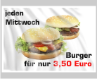 Werbefahne für Burgerwochen