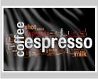 Werbefahne für Café oder Espresso Bar