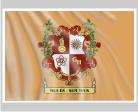 Familienfahne mit Wappen