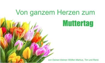 Fahnen zum Muttertag selbst gestalten - mit Fahnenvorlagen bei FAHNENstyling24.de