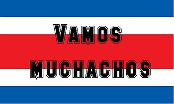 Vamos Muchachos - WM Fahnen zum Anfeuern der Nationalmannschaft von Costa Rica selber gestalten bei FAHNENstyling24.de