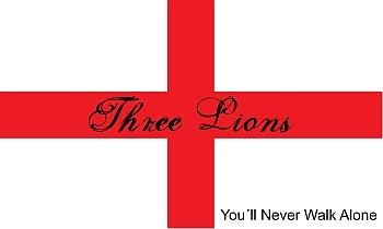 England Fahnen zur Fusball WM selber gestalten mit kostenlosen Vorlagen der Nationalflaggen bei FAHNENstyling24.de