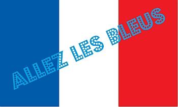 WM Fahnen Frankreich selber drucken - mit kostenfreien Vorlagen der Nationalflaggen bei FAHNENstyling24.de