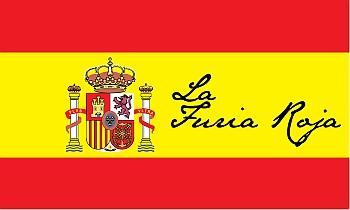 La Furia Roja - WM Fahnen für das spanische Team selbst gestalten und drucken bei FAHNENstyling24.de